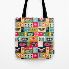 Lepidoptery tiles by Andrea Lauren  Tote Bag