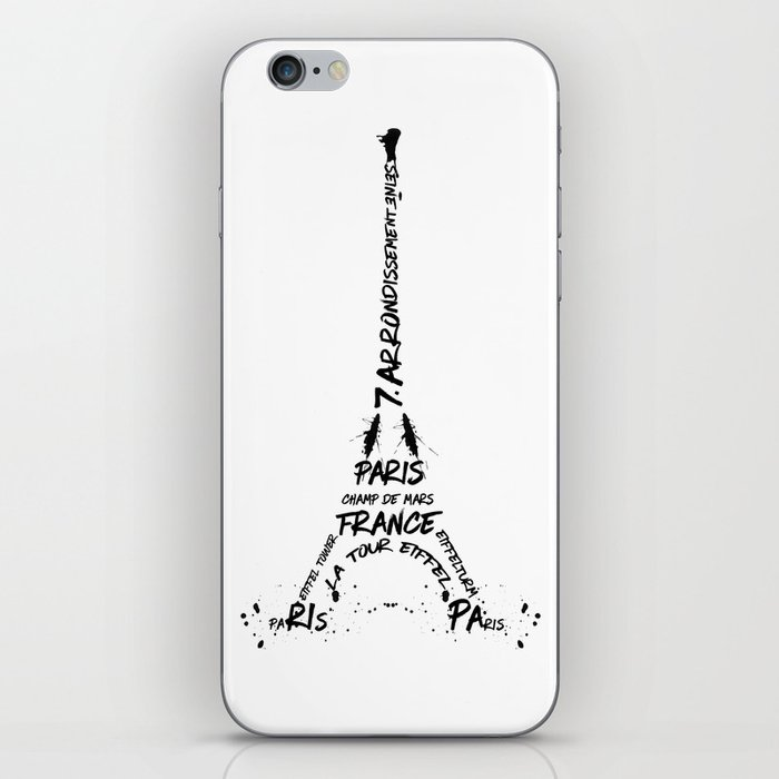 Digital-Art Eiffel Tower iPhone Skin