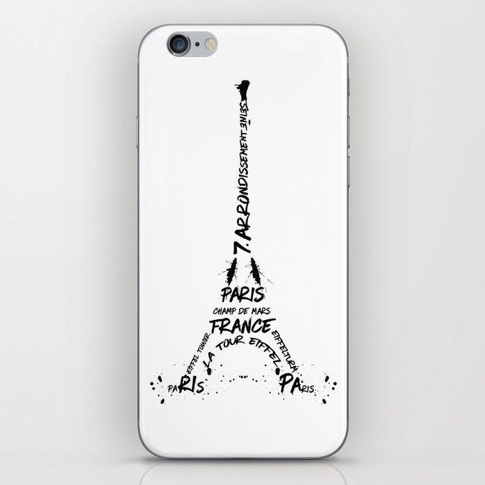 Digital-Art Eiffel Tower iPhone Skin