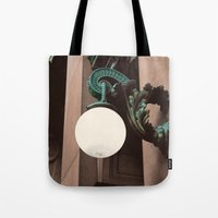 green lantern Tote Bags featuring Green Lantern by Brooke Copani
