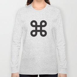 Geometric Pattern #87 (gray black loops) Long Sleeve T-shirt