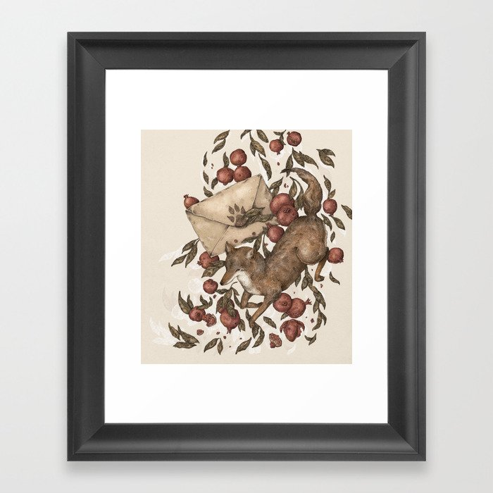 Coyote Love Letters Framed Art Print by jessicaroux | Society6