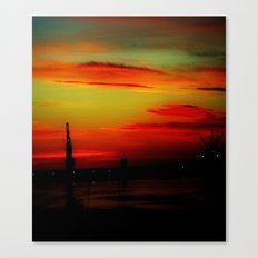 Morning at the Harbour Canvas Print