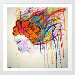 Drip Woman Art Print