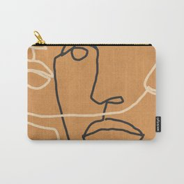 Abstract Face 6 Carry-All Pouch