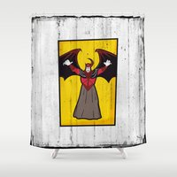 avenger Shower Curtains featuring DUNGEONS & DRAGONS - AVENGER by Zorio