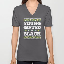 Young Gifted & Black African Black Month History Unisex V-Neck