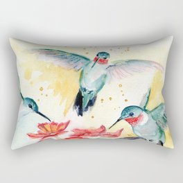 Hummingbird Party Rectangular Pillow