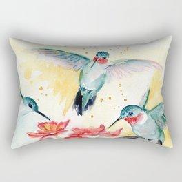 Hummingbird Party Rectangular Pillow