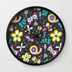 Happy Critters Black Wall Clock