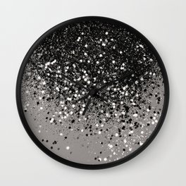 Silver Gray Glitter #1 #shiny #decor #art #society6 Wall Clock