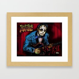Rock n Roll Maniac Rockabilly Jason Framed Art Print
