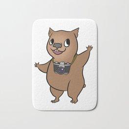 Wombat with 35mm SLR Bath Mat