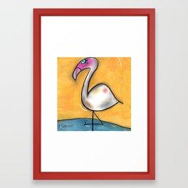 Flo-Mingo Framed Art Print