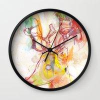 archan nair Wall Clocks featuring Maritza by Archan Nair