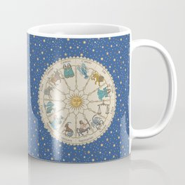 Vintage Astrology Zodiac Wheel Coffee Mug