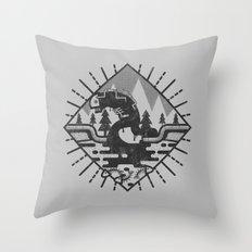 Monster Oil Throw Pillow