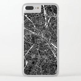 Paris Black Map Clear iPhone Case