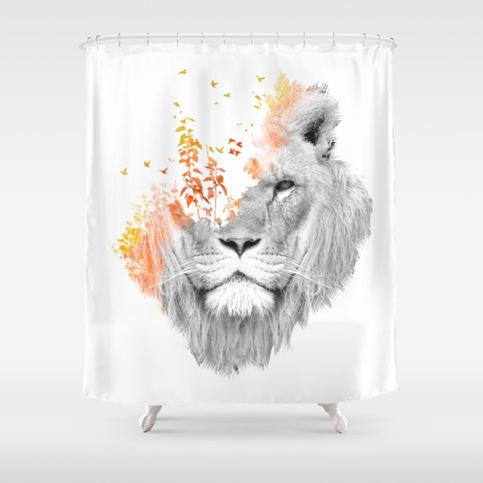 If I Roar The King Lion Shower Curtain By Budikwan