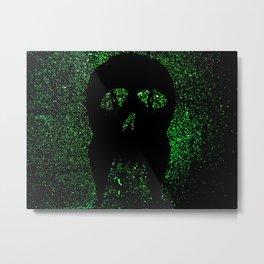 """""""Fangs"""" Green Metal Print"""