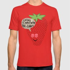 Strawberry Fields Red SMALL Mens Fitted Tee