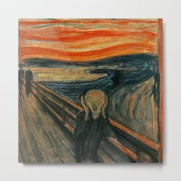The Scream by Edvard Munch, circa 1893 Metal Print
