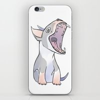 bull terrier iPhone & iPod Skins featuring Bull terrier by Suzanne Annaars