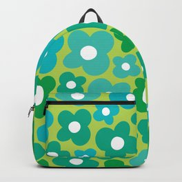 Lime Flower Power Backpack