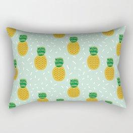 Pineapples triangles mint minimal pattern tropical fruits print Rectangular Pillow