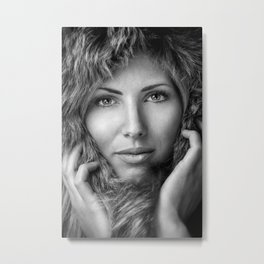 Fur imitation Metal Print