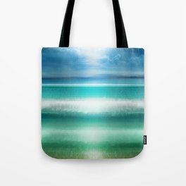 """Blue sky over teal sea South"" Tote Bag"