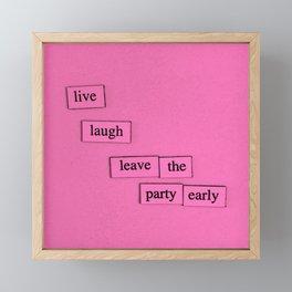 Live Laugh Framed Mini Art Print