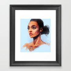 Portrait of a Brown Woman Framed Art Print