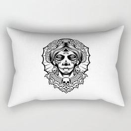 Woman dia de los muertos mexican woman Rectangular Pillow