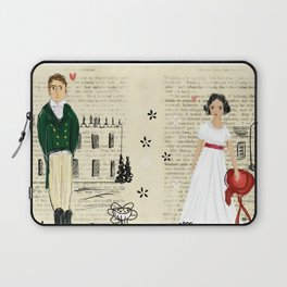 Mr.Darcy of Pemberley and Miss Bennet of Longbourn Laptop Sleeve