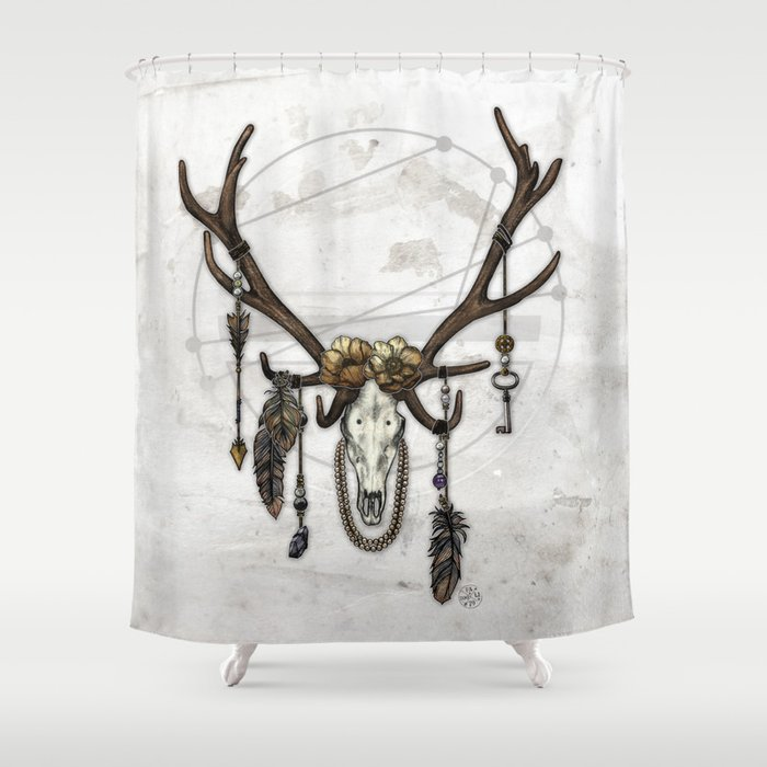 Bestial Crowns The Elk Shower Curtain