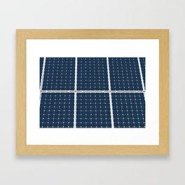 Solar Cell Panel Framed Art Print