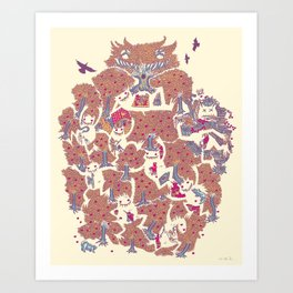 The orchard is such a very silly place Art Print