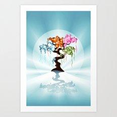 The Four Seasons Bubble Tree Art Print