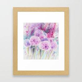 Alliums and Foxgloves Framed Art Print