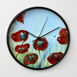 Poppyseeds Wall Clock