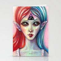 third eye Stationery Cards featuring Third Eye by Mary Nason (MiaSnow)