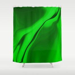 Smooth Green Design Shower Curtain