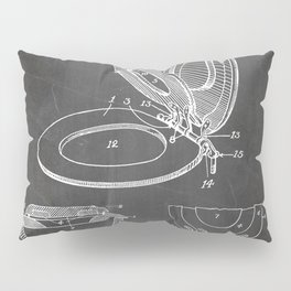 Toilet Seat Patent - Bathroom Art - Black Chalkboard Pillow Sham