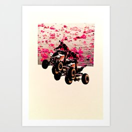 Flower Riders Art Print