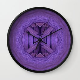 Leather in vintage style. Wall Clock