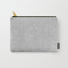 Pastel Grey Glitter Carry-All Pouch