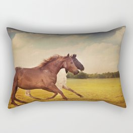Sissy And Indie With Clouds Rectangular Pillow