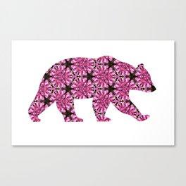 Geometric Fireweed Bear Cutout Canvas Print