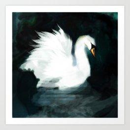 Swan in Process Art Print